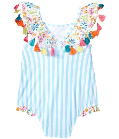 Mud Pie Flamingo Tassel Swimsuit (Toddler) Girl's Swimsuits