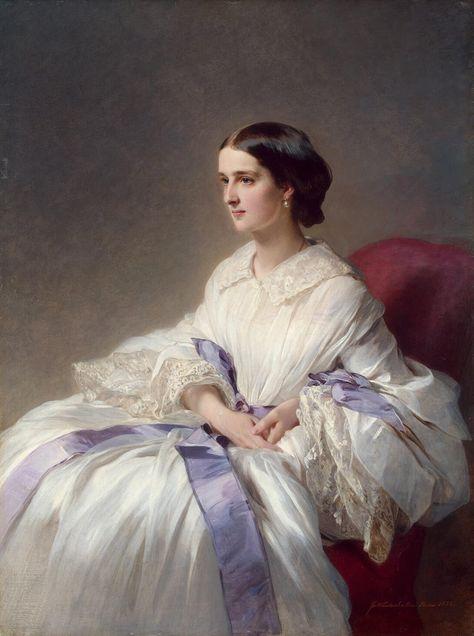 Countess Olga Shuvalova by Franz Xaver Winterhalter, 1858 Russia
