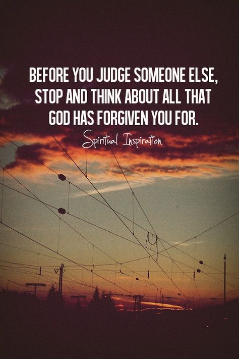 God has forgiven you.