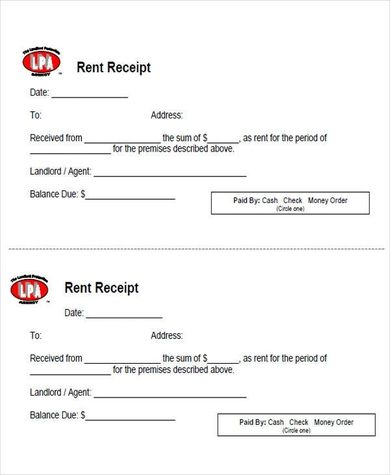 Free 6 Sample Rent Payment Receipts In Pdf Ms Word Words Being A Landlord Receipt Template