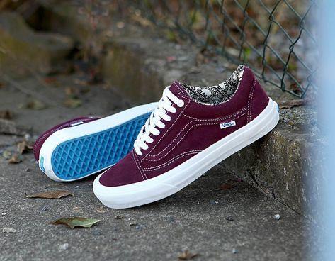 Vans shoes old skool, Burgundy vans, Vans