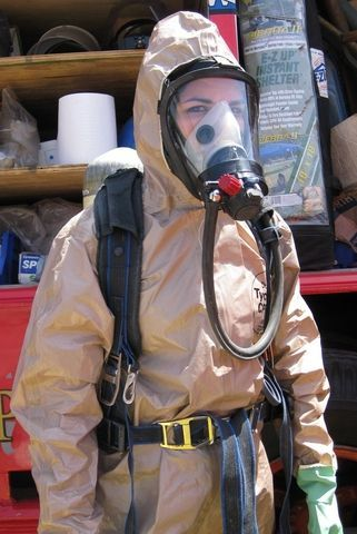 Kfdcommercialdivingequipment Mask Girl Hazmat Suit