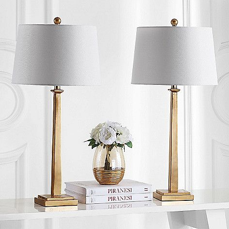 Safavieh Set Of 2 Andino 31 Table Lamps On Sale At Shophq Com Gold Table Lamp Table Lamp Sets Lamp Sets