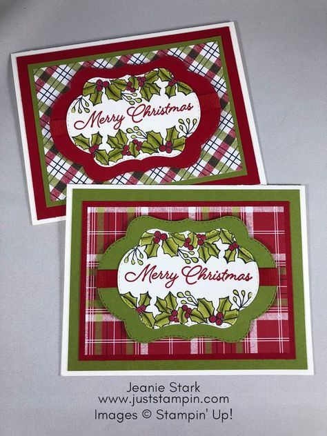 stampin up blended seasons christmas card idea jeanie stark stampinup
