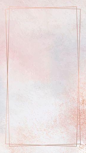 خلفيات ساده Copper Frame Simple Iphone Wallpaper Flower Background Wallpaper
