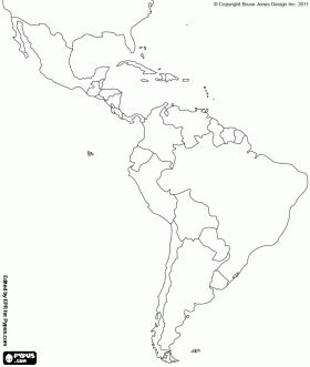 Blank Map Of Central And South America Printable | Teaching ideas ...