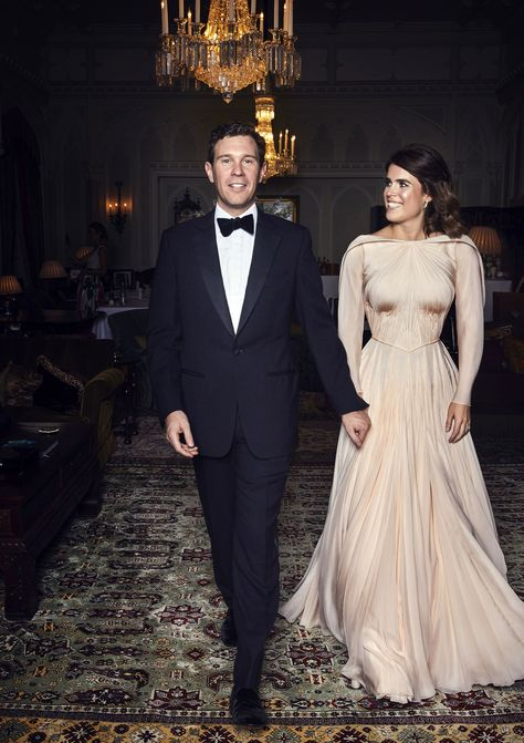 All the Details of Eugenie's Second Wedding Dress–Compared to Meghan Markle's- HarpersBAZAAR.com