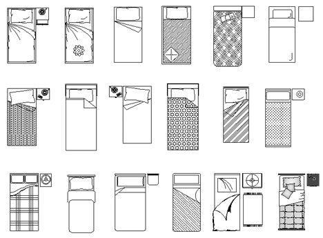 Camera Da Letto Dwg.Letto Singolo 2d Bed Drawings Bunk Dwg Camas