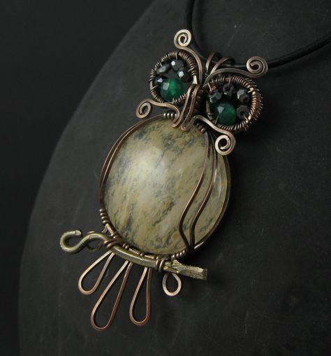Wickwire Jewelry: Week 19-Snidely Whiplash Owl Pendant