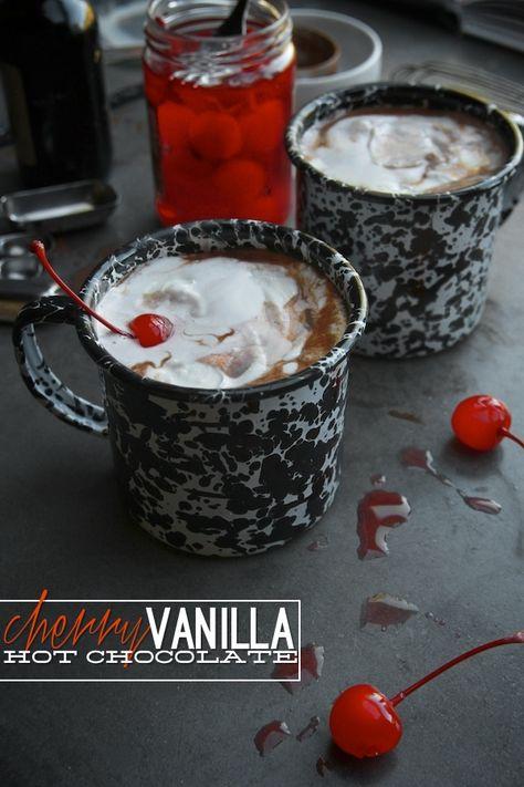 A snow-day treat: cherry-vanilla hot chocolate.