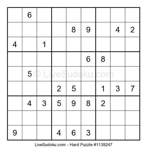 #Free #Difficult #Sudoku