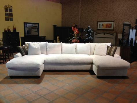 Bradly Double Chaise Feather Down Sectional With Images