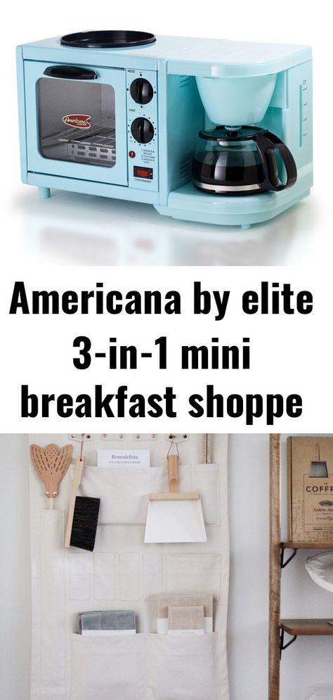 Americana by elite 3-in-1 mini breakfast shoppe