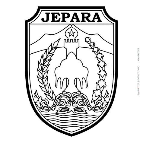 Logo Kabupaten Jepara Hitam Putih   (example: Themes Hive) di 2020 ...