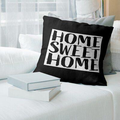 East Urban Home Home Sweet Colorado Throw Pillow Suede Pillows Throw Pillows Sweet Home
