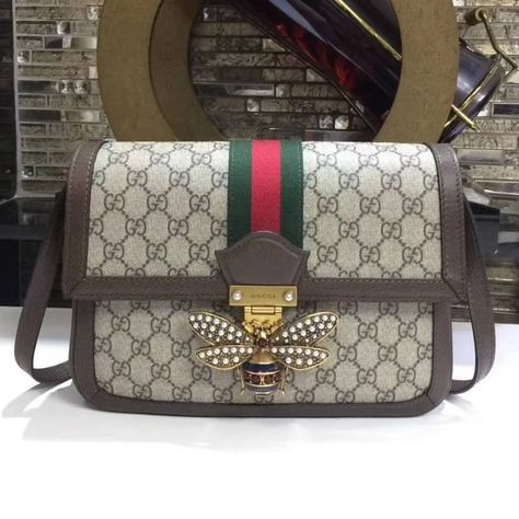 3745f78e0e02 Gucci Queen Margaret GG Supreme Shoulder Bag | Real Gucci Wallets ...