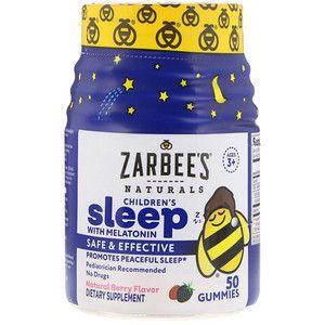 Zarbee S علكات للنوم للأطفال بالميلاتونين نكهة التوت الطبيعية للأطفال فوق سن 3 أعوام 50 علكة Iherb Kids Sleep Melatonin Nature Kids