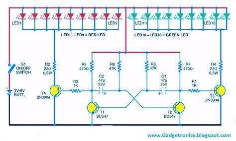 Led Christmas Lights Using Transistors Gadgetronicx Led Christmas Lights Led Transistors