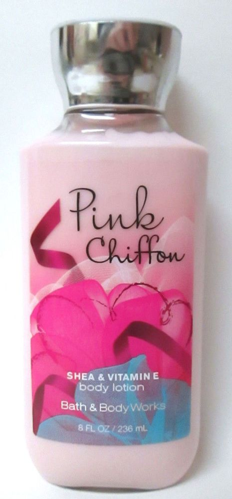 Bath Body Works Pink Chiffon Shea Vitamin E Body Lotion 8 Fl