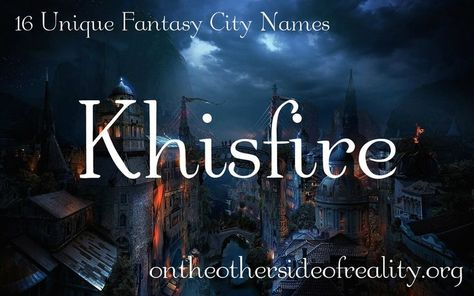Find A Name For Your Baby Fantasy City Names Fantasy Names Fantasy City