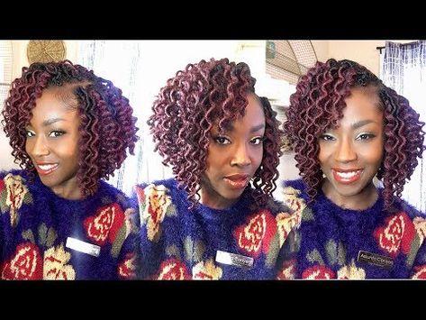 UPDATE!! How to Cut Crochet Freetress Curly Faux Loc Bob Mix - YouTube