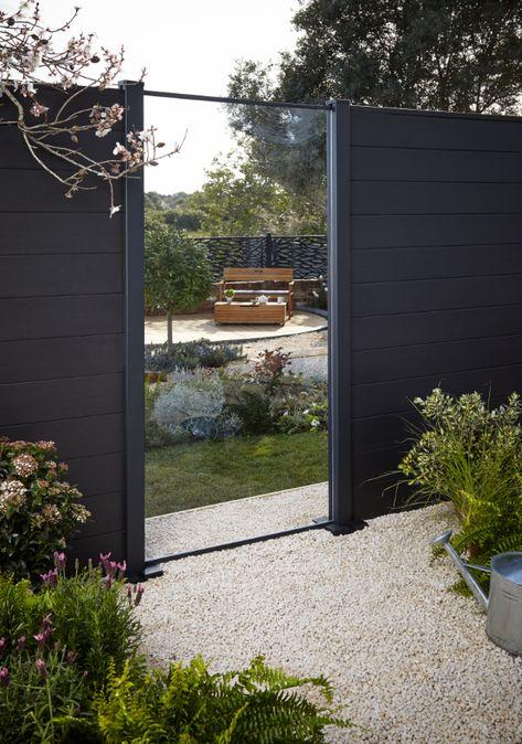 Panneau Acrylique Aluminium Neva Anthracite Terrasse Jardin Jardins Et Castorama