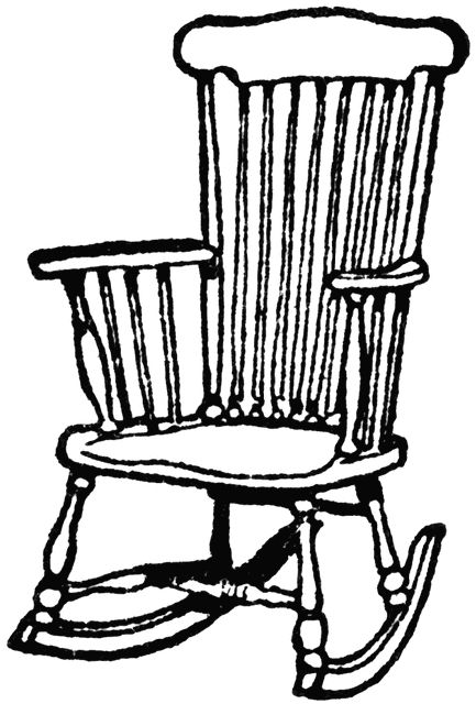Wooden Rocking Chair Clipart Etc Chair Drawing Rocking Chair Wooden Rocking Chairs