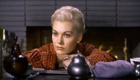 "Kim Novak in Hitchcock's Vertigo.  ""There was where you made your mistake Judy. You shouldn't keep souvenirs of a killing."""