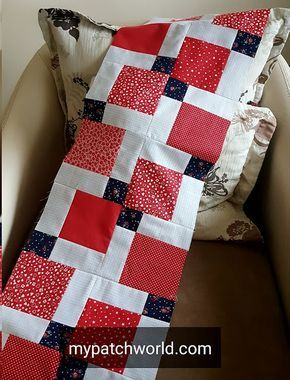 All about patchwork: disappearing nine patch table runner