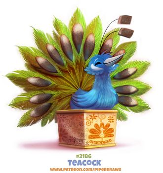 Daily Paint Teacock by Cryptid-Creations