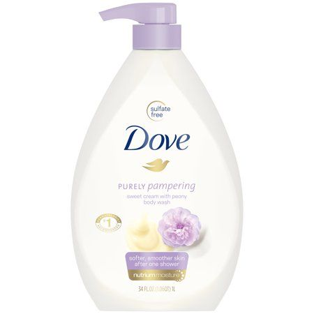 Dove Purely Pampering Sweet Cream Peony Body Wash Pump 34 Oz Walmart Com In 2020 Gentle Body Wash Dove Body Wash Body Wash