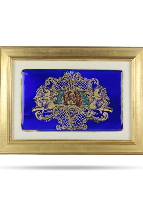 Murano Hand Painted 24 Karat Gold