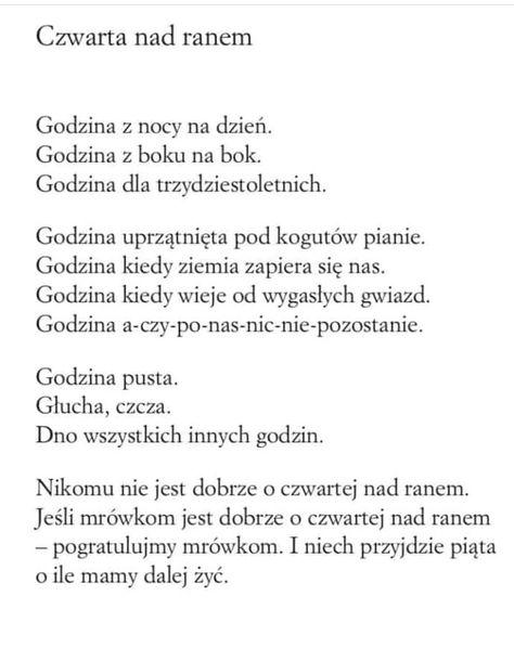 Wisława Szymborska Wiersze Inspirujące Cytaty I Cytaty
