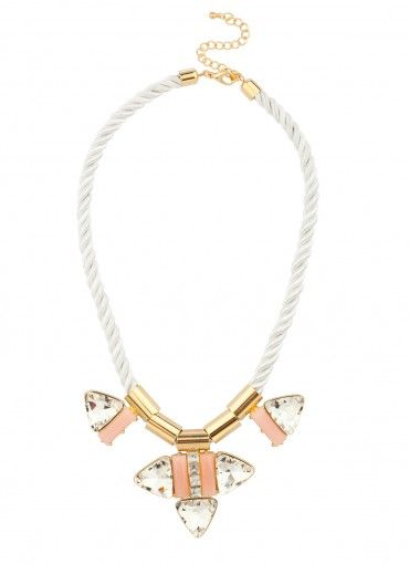 Bermuda Triangle Rope Strand Necklace in Pink
