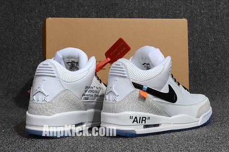 230e01bd10bbd8 off white air jordan 3 og retro 3s white cement custom jordans shoes (5) -  AnpKick.com