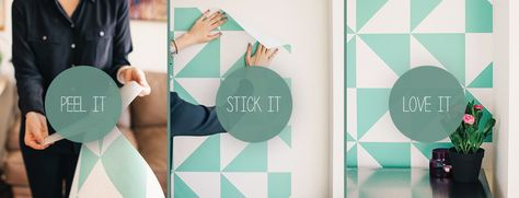 This website has affordable removable wallpaper! Great for temporary or rented housing.