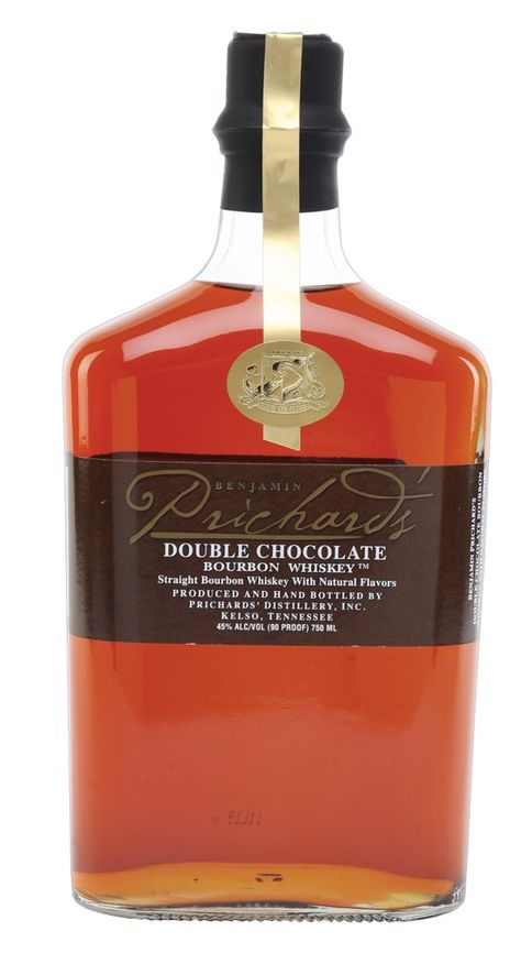 P22 Cezanne font on Prichard's Double #Chocolate #Bourbon.
