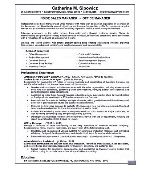 retail sales resume resume examples retail sales sample resume - Professional Sales Resume Template