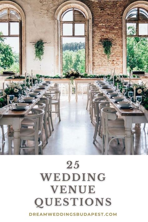 Approach each of your favourite wedding venues in Budapest with this ultimate list of questions to guarantee you get the best value for money and avoid any hidden charges...#weddinginbudapest #destinationweddingbudapest #rusticwedding