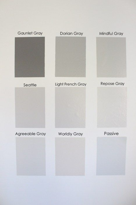 Gray Paint Samples by Sherwin Williams