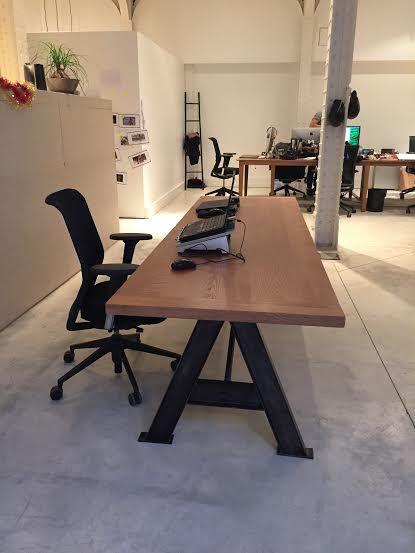 Table Industrielle Pieds De Forme A En Ipn Sur Mesure Table De