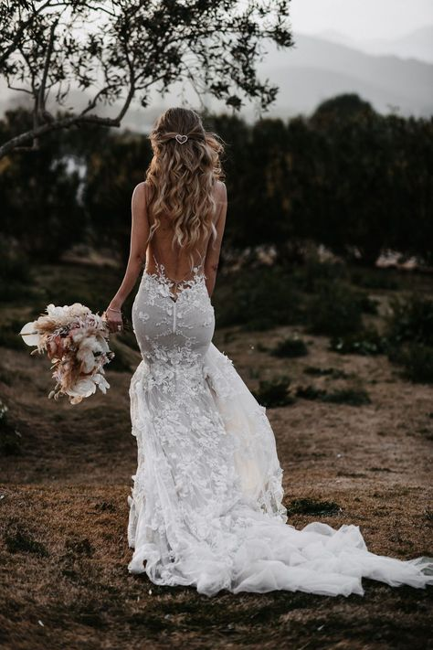 Romantic and modern our is a stunning mermaid wedding dress made from delicately embroidered lace with rouched low back detailing. dresses mermaid Low Back Galia Lahav Mermaid Wedding Dress Wedding Dress Low Back, Black Wedding Dresses, Wedding Dress Sleeves, Bridal Dresses, Elegant Dresses, Evening Dresses For Weddings, Gowns With Sleeves, Vintage Dresses, Sleeve Dresses