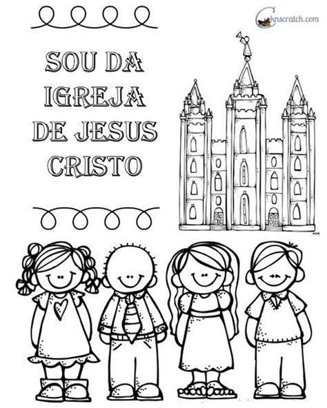 Para Colorir Sou Da Igreja De Jesus Cristo Igreja Colorir Sud