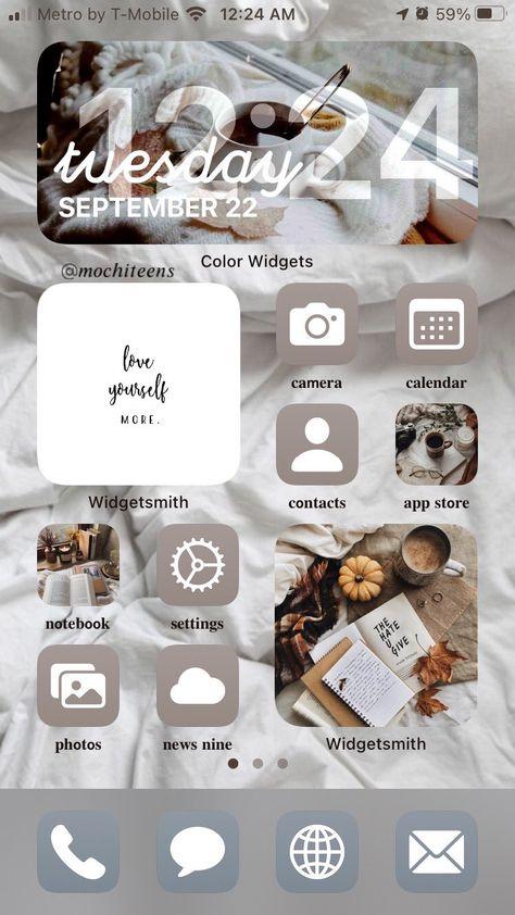7 iOS 14 Fall Aesthetic Home Screen Ideas