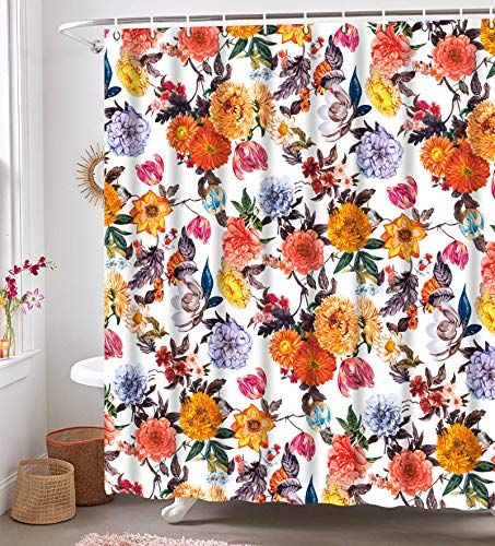 Neasow Boho Floral Shower Curtains For Bathroom Colorful Https