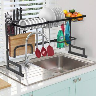 Home Basics Deluxe Stainless Steel Countertop Dish Rack In 2020