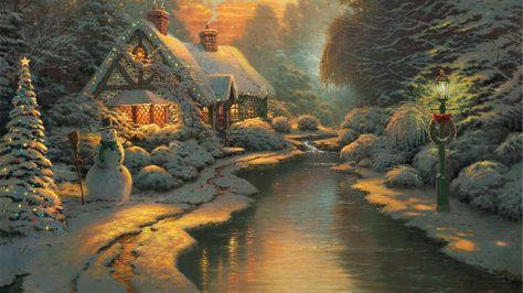 Thomas Kinkade Snowman #Landscape Windows 8 #Wallpaper ~ #Pinterest #Integridad #SNRTG #IARTG