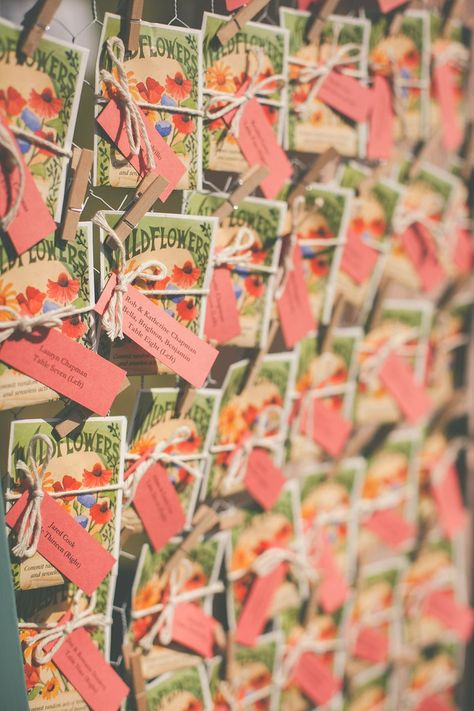 Seedling wedding favors. See more of this diy wedding here  http://www.weddingchicks.com/2013/09/11/vintage-diy-wedding-3/