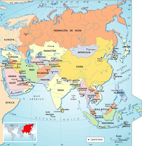 Mapa Politico De Asia Mapa De Asia Mapa Politico Asia
