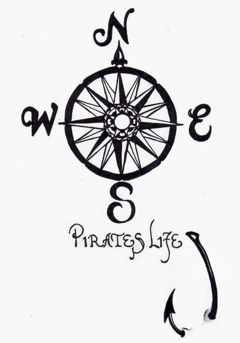 Pirates Life For Me Tattootattoo Compi Tattoo Ideas By Kathy Holloway Tghwrafy compass fishing hook tattoo flash art ~A.R.